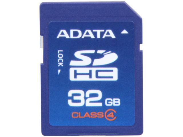 ADATA 32GB Secure Digital High-Capacity (SDHC) Flash Card Model ASDH32GCL4-R