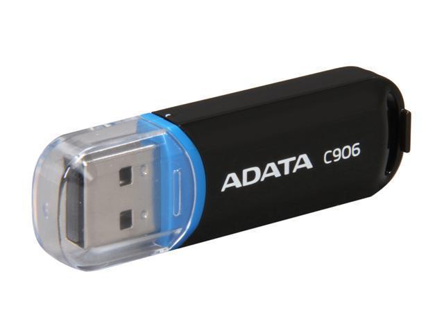 ADATA Classic Series C906 16GB USB 2.0 Flash Drive (Black) Model AC906-16G-RBK