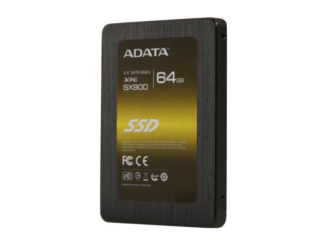 """ADATA XPG SX900 2.5"""" 64GB SATA III MLC Internal Solid State Drive (SSD) ASX900S3-64GM-C"""