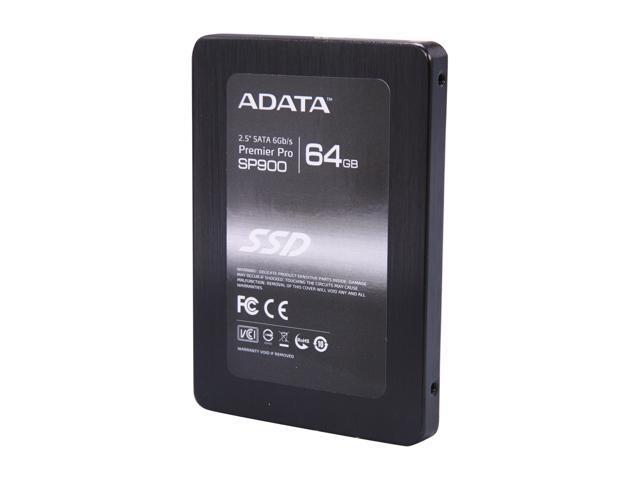 "ADATA Premier Pro SP900 2.5"" 64GB SATA III MLC Internal Solid State Drive (SSD) ASP900S3-64GM-C"