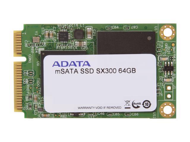 ADATA XPG SX300 64GB Mini-SATA (mSATA) MLC Internal Solid State Drive (SSD) ASX300S3-64GM-C