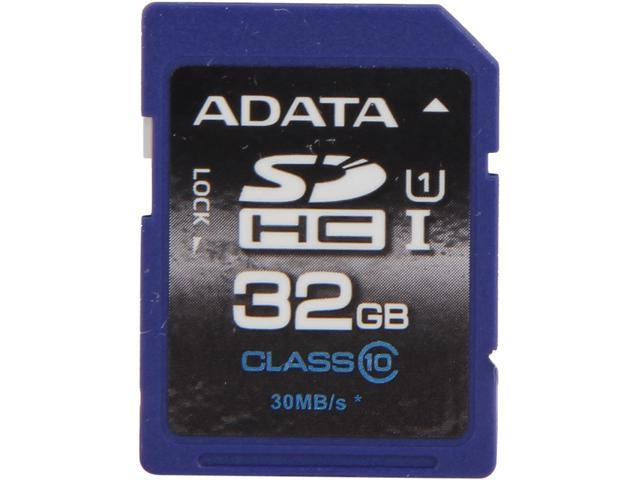 ADATA Premier 32GB Secure Digital High-Capacity (SDHC) Class 10 Flash Card Model ASDH32GUICL10-R