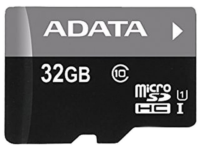 ADATA 32GB Premier microSDHC UHS-I / Class 10 Memory Card with SD Adapter, Speed Up to 50MB/s (AUSDH32GUICL10-RA1)