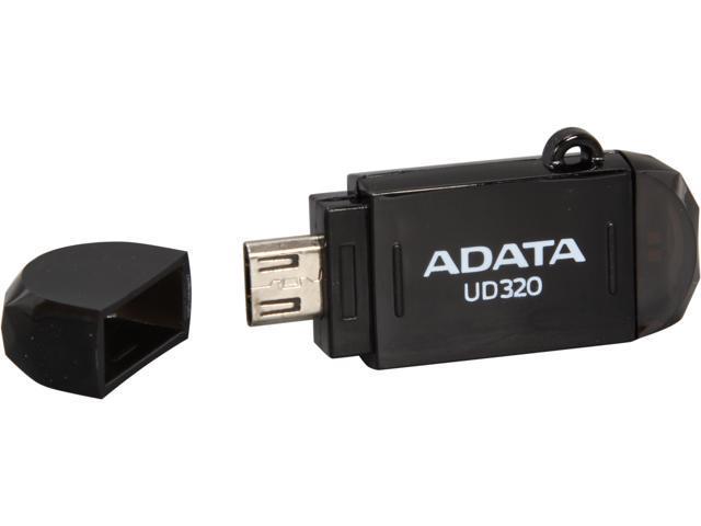 ADATA DashDrive UD320 16GB USB 2.0 OTG Flash Drive Model AUD320-16G-CBK