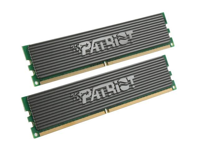 Patriot Extreme Performance 2GB (2 x 1GB) 240-Pin DDR2 SDRAM DDR2 800 (PC2 6400) Dual Channel Kit Desktop Memory Model PDC22G6400ELK