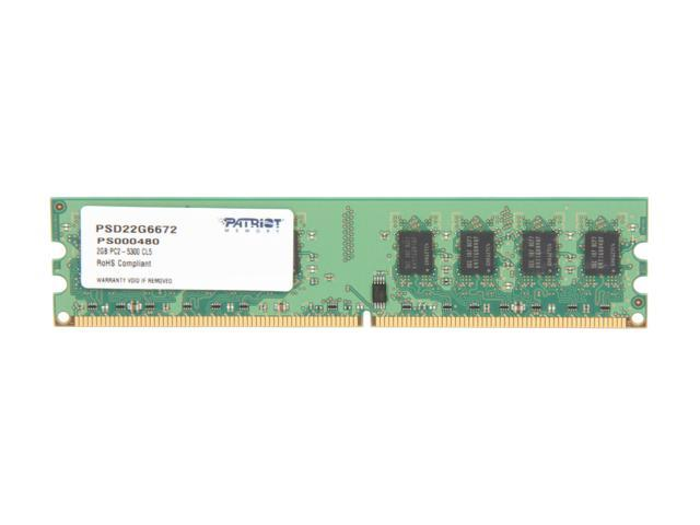 Patriot 2GB 240-Pin DDR2 SDRAM DDR2 667 (PC2 5300) Desktop Memory Model PSD22G6672