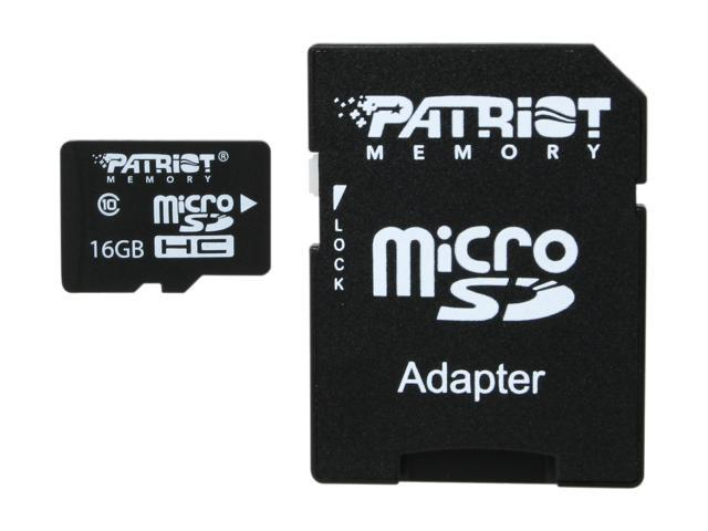 Patriot LX Series 16GB Class 10 Micro SDHC Flash Card Model PSF16GMCSDHC10