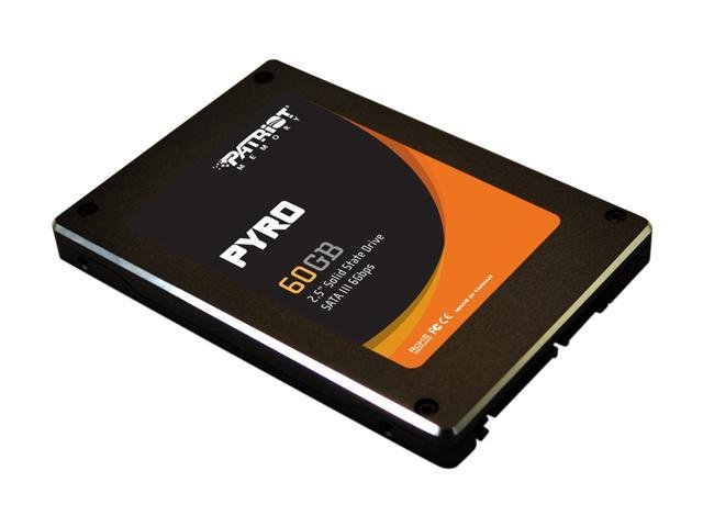 "Patriot Pyro 2.5"" 60GB SATA III MLC Internal Solid State Drive (SSD) PP60GS25SSDR"