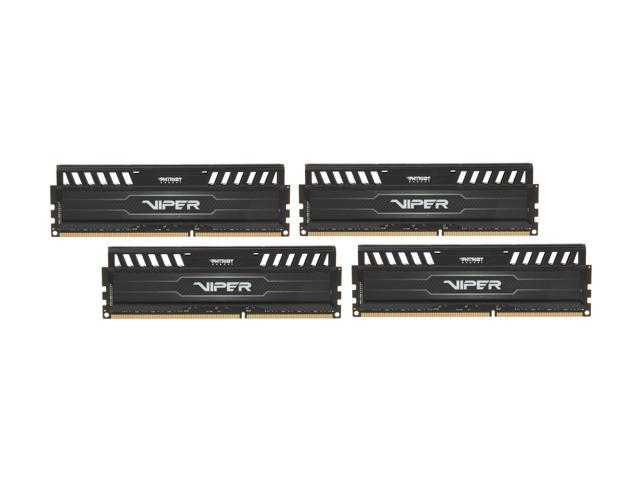 Patriot Viper 3 32GB (4 x 8GB) 240-Pin DDR3 SDRAM DDR3 1600 (PC3 12800) Desktop Memory Model PV332G160C9QK