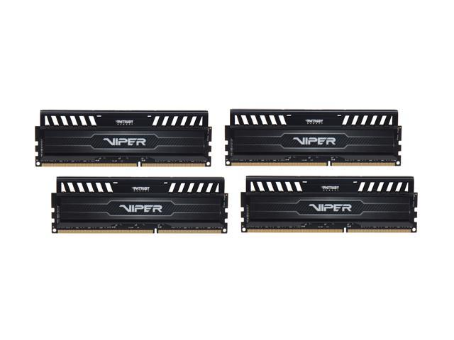 Patriot Viper 3 32GB (4 x 8GB) 240-Pin DDR3 SDRAM DDR3 1866 (PC3 15000) Desktop Memory Model PV332G186C0QK