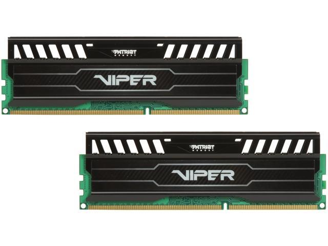 Patriot Viper 3 8GB (2 x 4GB) 240-Pin DDR3 SDRAM DDR3 2400 (PC3 19200) Black Mamba Edition Desktop Memory Model PV38G240C1K