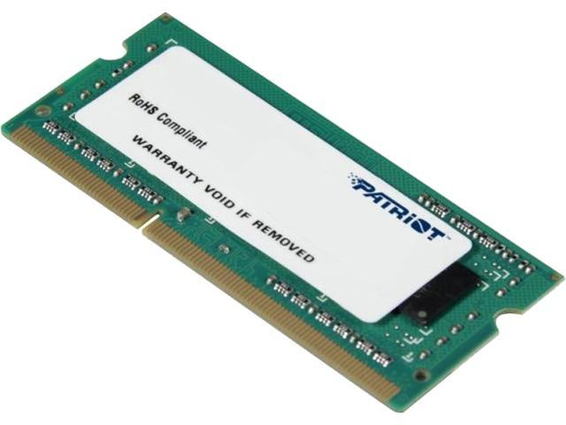 Patriot Signature Line 2GB 204-Pin DDR3 SO-DIMM DDR3L 1600 (PC3L 12800) Laptop Memory Model PSD32G1600L81S