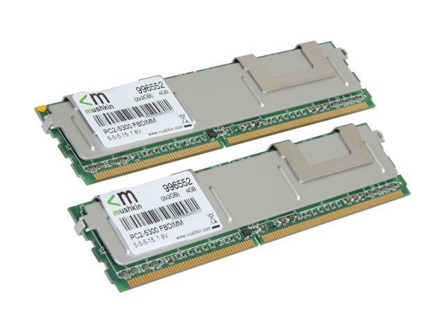 Mushkin Enhanced Proline 4GB (2 x 2GB) ECC Fully Buffered DDR2 667 (PC2 5300) Server Memory Model 996552