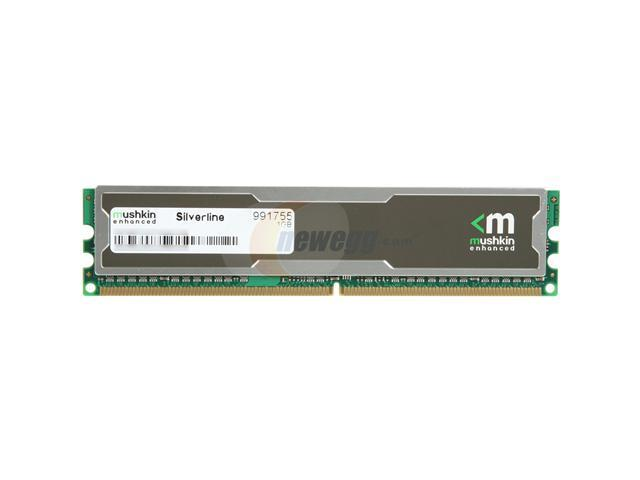 Mushkin Enhanced Silverline 1GB 240-Pin DDR2 SDRAM DDR2 667 (PC2 5300) Desktop Memory Model 991755