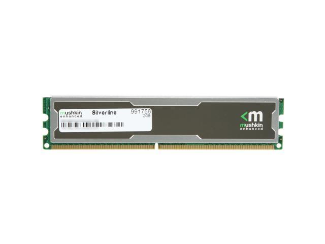 Mushkin Enhanced Silverline 2GB 240-Pin DDR2 SDRAM DDR2 667 (PC2 5300) Desktop Memory Model 991756