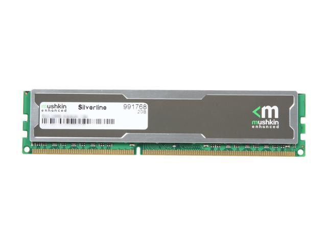 Mushkin Enhanced Silverline 2GB 240-Pin DDR3 SDRAM DDR3 1333 (PC3 10666) Desktop Memory Model 991768