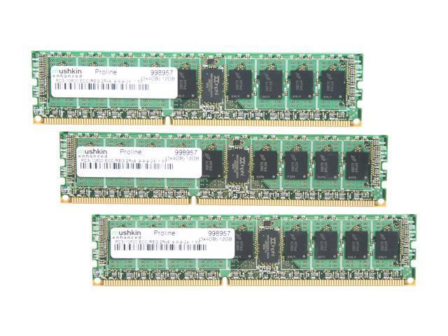 Mushkin Enhanced Proline 12GB (3 x 4GB) 240-Pin DDR3 SDRAM ECC Registered DDR3 1333 (PC3 10600) Server Memory Model 998957