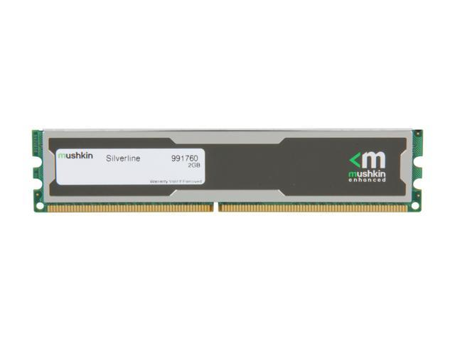Mushkin Enhanced Silverline 2GB 240-Pin DDR2 SDRAM DDR2 800 (PC2 6400) Desktop Memory Model 991760
