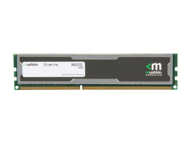 Mushkin Enhanced Silverline 4GB 240-Pin DDR3 SDRAM DDR3 1600 (PC3 12800) Desktop Memory Model 992002