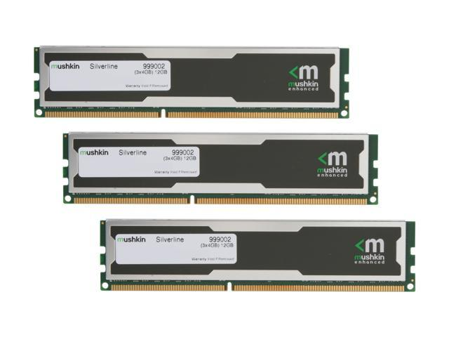 Mushkin Enhanced Silverline 12GB (3 x 4GB) 240-Pin DDR3 SDRAM DDR3 1600 (PC3 12800) Desktop Memory Model 999002