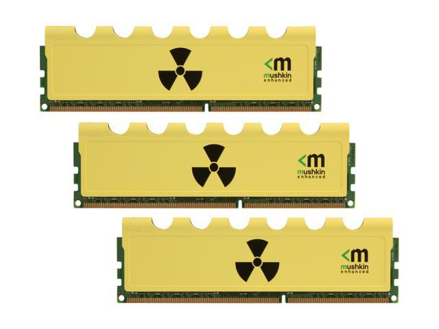 Mushkin Enhanced Radioactive 12GB (3 x 4GB) 240-Pin DDR3 SDRAM DDR3 1600 (PC3 12800) Desktop Memory Model 999005