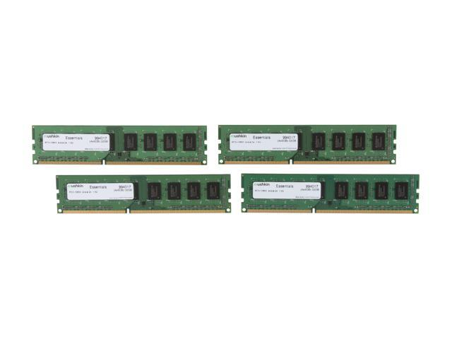 Mushkin Enhanced Essentials 32GB (4 x 8GB) 240-Pin DDR3 SDRAM DDR3 1333 (PC3 10600) Desktop Memory Model 994017