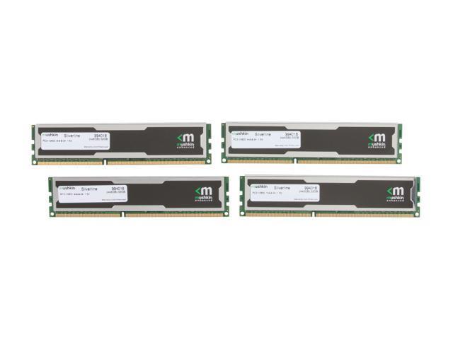 Mushkin Enhanced Silverline 32GB (4 x 8GB) 240-Pin DDR3 SDRAM DDR3 1333 (PC3 10600) Desktop Memory Model 994018