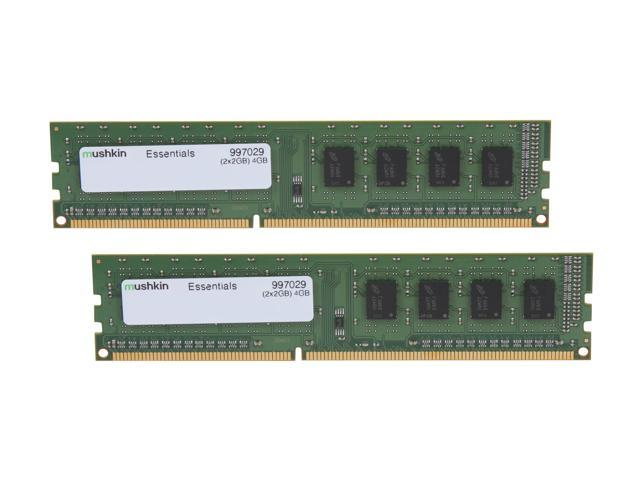Mushkin Enhanced Essentials 4GB (2 x 2GB) 240-Pin DDR3 SDRAM DDR3L 1600 (PC3L 12800) Desktop Memory Model 997029