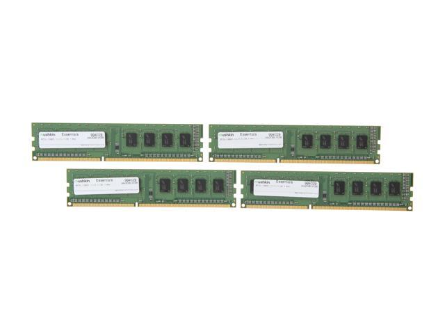 Mushkin Enhanced Essentials 8GB (4 x 2GB) 240-Pin DDR3 SDRAM DDR3L 1600 (PC3L 12800) Desktop Memory Model 994029