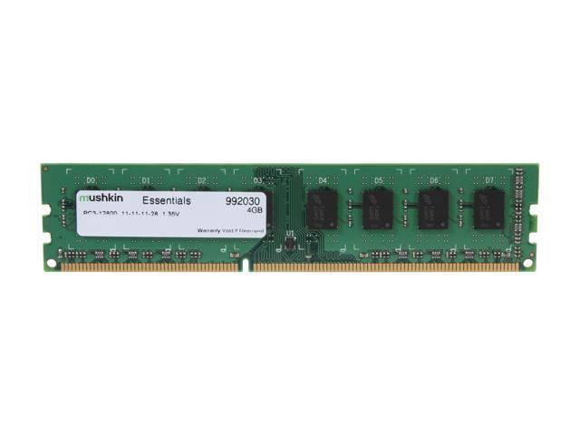 Mushkin Enhanced Essentials 4GB 240-Pin DDR3 SDRAM DDR3L 1600 (PC3L 12800) Desktop Memory Model 992030
