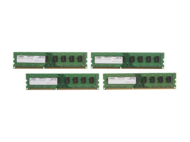 Mushkin Enhanced Essentials 16GB (4 x 4GB) 240-Pin DDR3 SDRAM DDR3L 1600 (PC3L 12800) Desktop Memory Model 994030