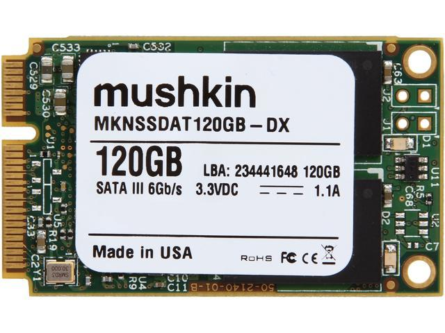 Mushkin Enhanced Atlas Series MKNSSDAT120GB-DX 120GB Mini-SATA (mSATA) MLC Internal Solid State Drive (SSD)