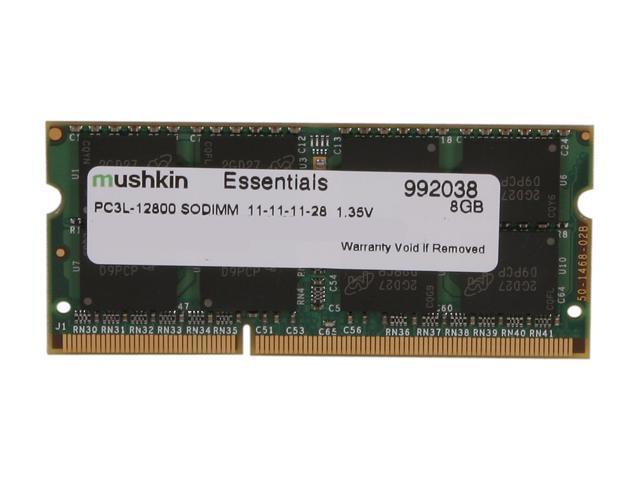 Mushkin Enhanced Essentials 8GB 204-Pin DDR3 SO-DIMM DDR3L 1600 (PC3L 12800) Laptop Memory Model 992038