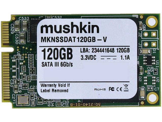 Mushkin Enhanced Atlas Series 120GB Mini-SATA (mSATA) MLC Internal Solid State Drive (SSD) MKNSSDAT120GB-V