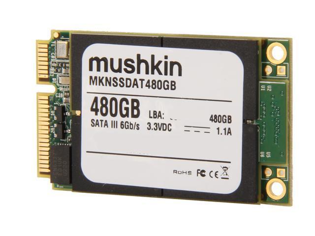 Mushkin Enhanced Atlas Series MKNSSDAT480GB 480GB Mini-SATA (mSATA) MLC Internal Solid State Drive (SSD)