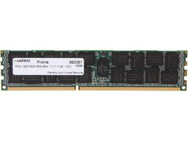 Mushkin Enhanced PROLINE 16GB 240-Pin DDR3 SDRAM ECC Registered DDR3 1600 (PC3 12800) Server Memory Model 992087