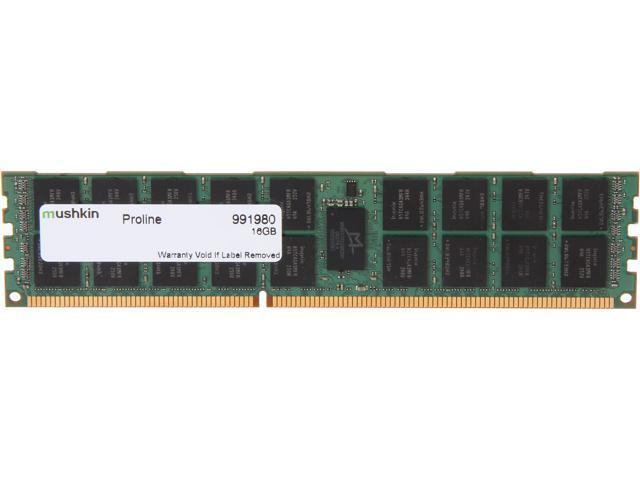 Mushkin Enhanced PROLINE 16GB 240-Pin DDR3 SDRAM ECC Registered DDR3 1333 (PC3 10600) Server Memory Model 991980