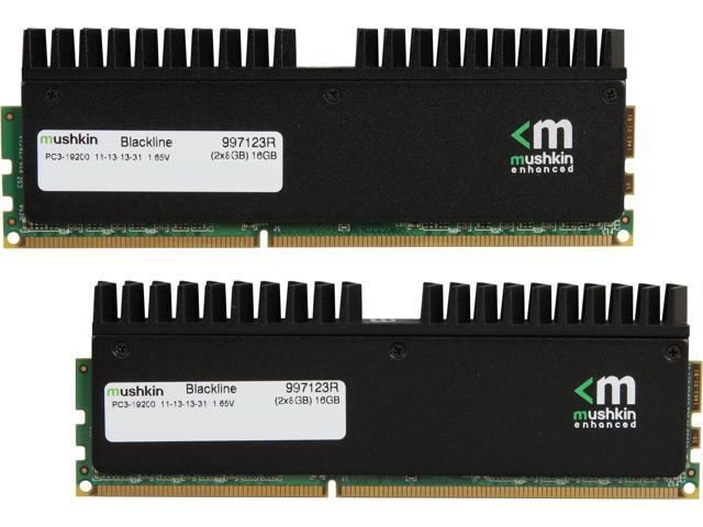 Mushkin Enhanced Blackline 16GB (2 x 8GB) 240-Pin DDR3 SDRAM DDR3 2400 (PC3 19200) Desktop Memory Model 997123R