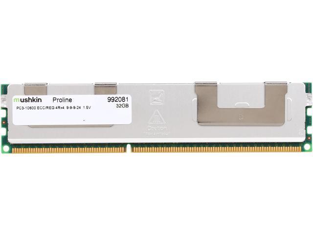Mushkin Enhanced Proline 32GB 240-Pin DDR3 RDIMM ECC Registered DDR3 1333 (PC3 10600) Memory (Server Memory) Model 992081