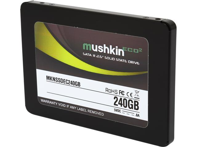 "Mushkin Enhanced ECO2 2.5"" 240GB SATA III MLC Internal Solid State Drive (SSD) MKNSSDEC240GB"