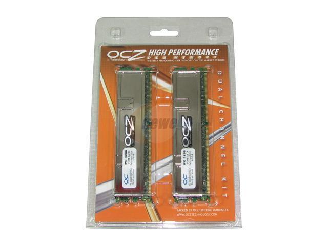OCZ Performance Series 1GB (2 x 512MB) 184-Pin DDR SDRAM DDR 400 (PC 3200) Dual Channel Kit Desktop Memory Model OCZ4001024PFDC-K