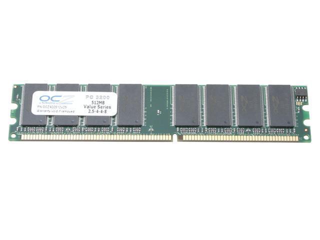 OCZ Value Series 512MB 184-Pin DDR SDRAM DDR 400 (PC 3200) Desktop Memory Model OCZ400512V25