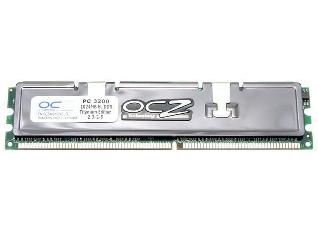 OCZ Titanium 1GB 184-Pin DDR SDRAM DDR 400 (PC 3200) Desktop Memory Model OCZ4001024ELTE