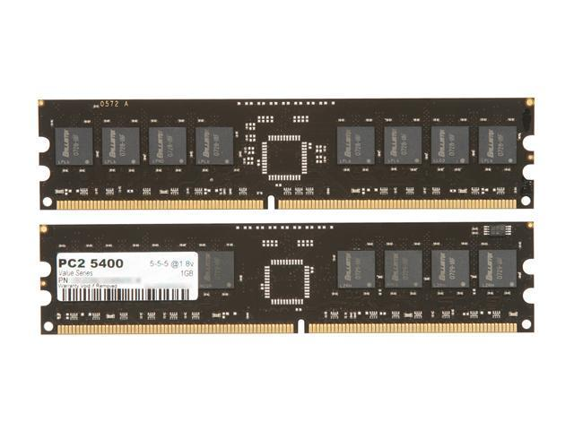OCZ Value Series 2GB (2 x 1GB) 240-Pin DDR2 SDRAM DDR2 667 (PC2 5400) Dual Channel Kit Desktop Memory Model OCZ26672048VDC-K