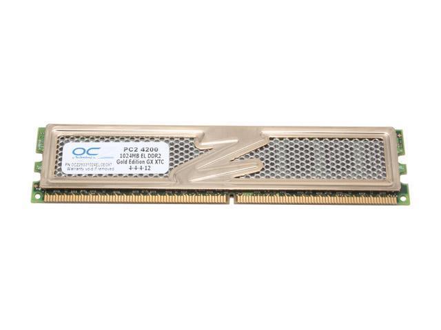 OCZ Gold 1GB 240-Pin DDR2 SDRAM DDR2 533 (PC2 4200) Desktop Memory Model OCZ25331024ELGEGXT
