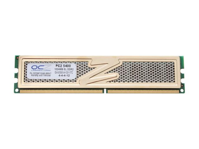 OCZ Gold Series 1GB 240-Pin DDR2 SDRAM DDR2 667 (PC2 5400) Desktop Memory Model OCZ26671024ELGEGXT