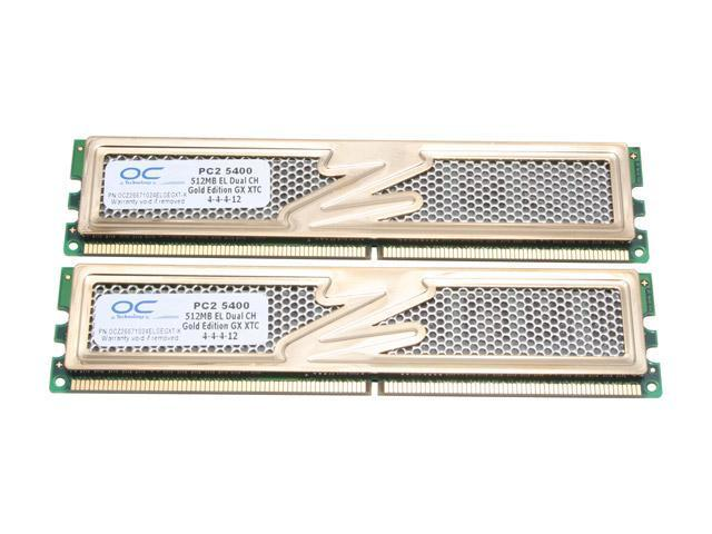 OCZ Gold 1GB (2 x 512MB) 240-Pin DDR2 SDRAM DDR2 667 (PC2 5400) Dual Channel Kit Desktop Memory Model OCZ26671024ELGEGXT-K