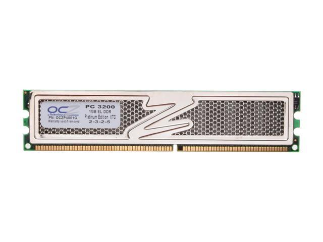 OCZ 1GB 184-Pin DDR SDRAM DDR 400 (PC 3200) Desktop Memory Model OCZP4001G