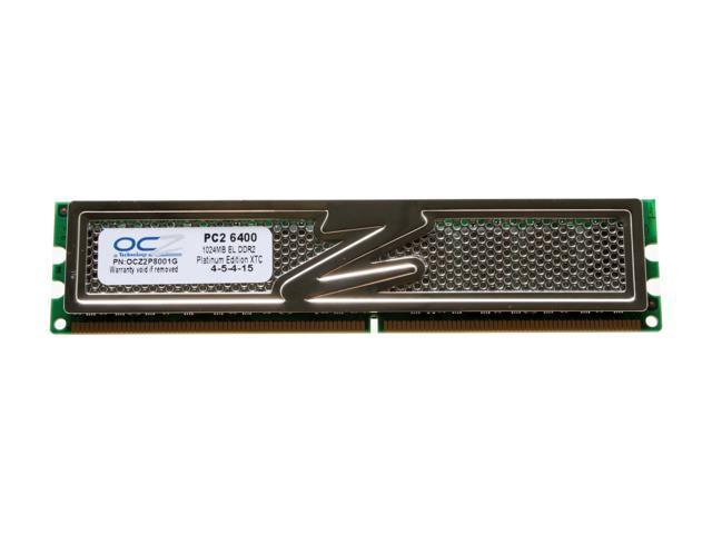 OCZ Platinum 1GB 240-Pin DDR2 SDRAM DDR2 800 (PC2 6400) Desktop Memory Model OCZ2P8001G