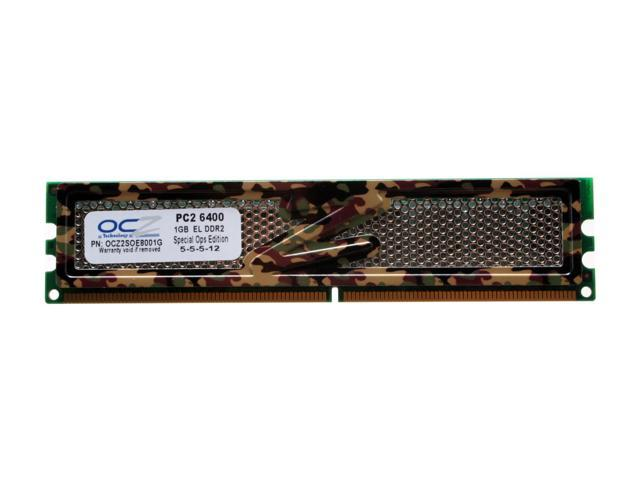 OCZ S.O.E 1GB 240-Pin DDR2 SDRAM DDR2 800 (PC2 6400) Desktop Memory Model OCZ2SOE8001G